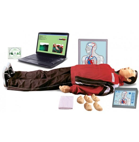 """Т22к """"Максим III-01"""" (АВТОШКОЛА) тренажер сердечно-легочной и мозговой реанимации с анимационной обучающей интерактивной компьютерной программой"""