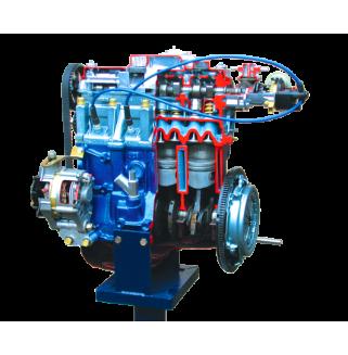 Двигатель ВАЗ 2108-09, на подставке (с возможностью демонстрации работы)
