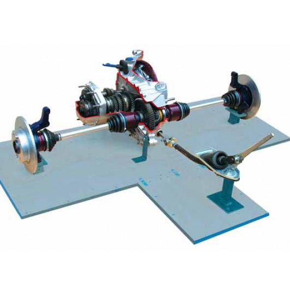 Механическая КПП с установленными ШРУСами, сцеплением (c электромеханическим приводом)