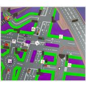 Доска магнитно-маркерная настенная со схемой населенного пункта