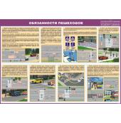 """Плакат """"Обязанности пешеходов"""""""