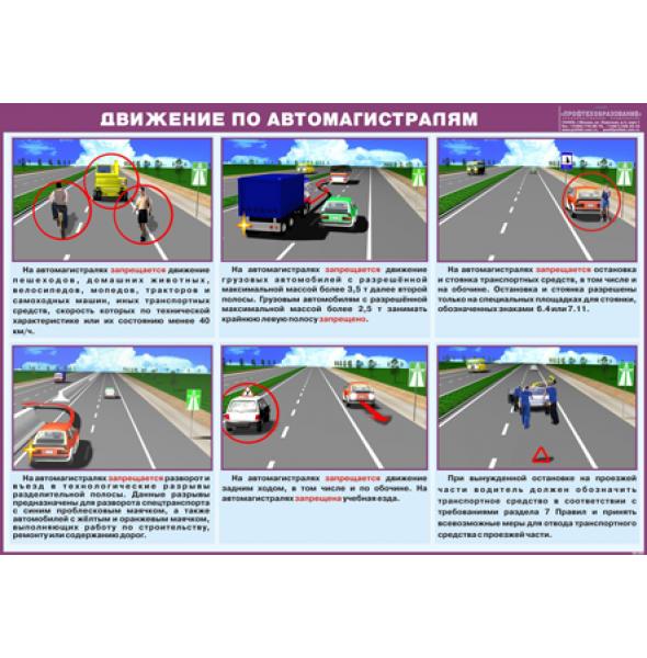 """Плакат """"Движение по автомагистралям"""""""