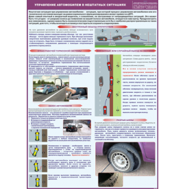 """Плакат """"Управление автомобилем в нештатных ситуациях"""""""