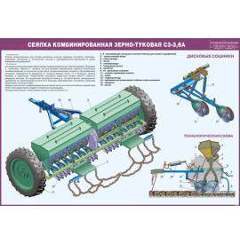 Стенд «Сеялка комбинированная зерно-туковая СЗ-3,6А»
