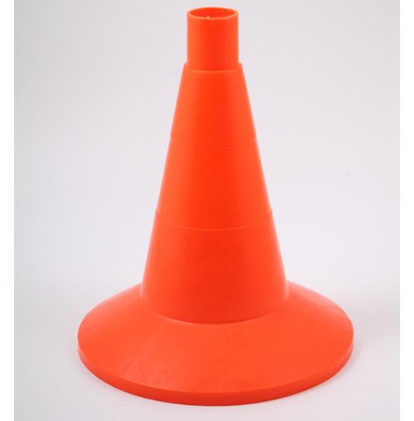 Конус оградительный сигнальный, оранжевый упругий, 32 см