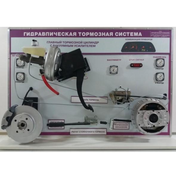 Стенд - тренажер «Гидравлическая тормозная система легкового автомобиля» ВИ-1.