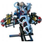 Двигатель ВАЗ 2101-07 с навесным оборудованием в сборе со сцеплением и коробкой передач, передней подвеской и рулевым механизмом, на подставке