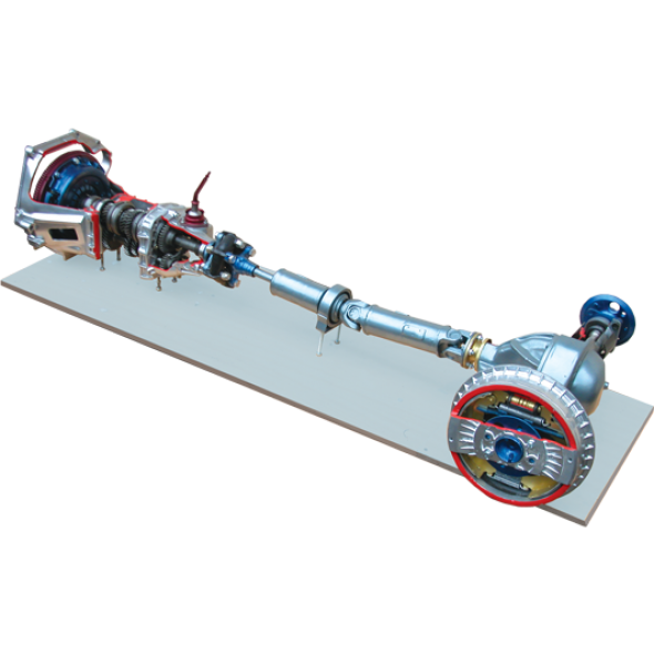 Механическая КПП с усечёнными карданным валом, мостом и сцеплением (c электромеханическим приводом)