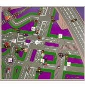 """Электрофицированная панорамная магнитно-маркерная доска """"Светофоры в дорожных ситуациях"""""""