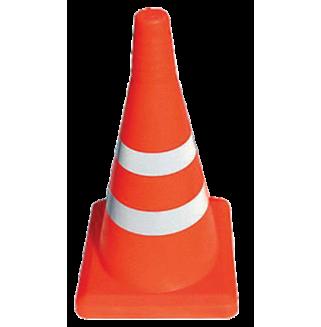 Конус оградительный сигнальный, оранжевый упругий, 52 см (светоотражающие полосы)