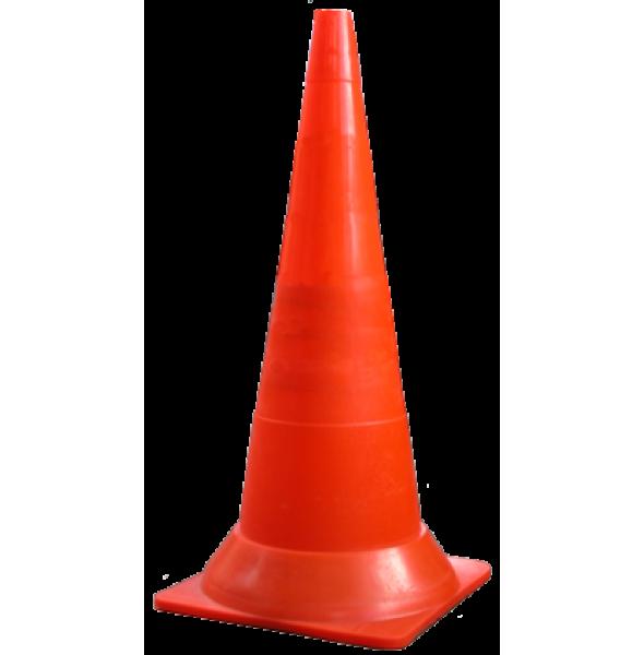 Конус оградительный сигнальный, оранжевый упругий, 75 см