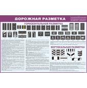 """Плакат """"Дорожная разметка"""" 2019"""