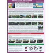 """Плакат """"Безопасность пешеходов и велосипедистов"""""""