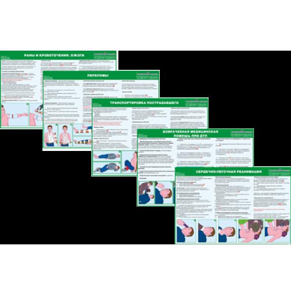 """Комплект плакатов  """"Оказание первой медицинской помощи"""""""