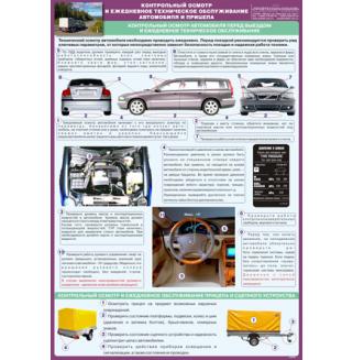 """Стенд """"Контрольный осмотр и ежедневное техническое обслуживание автомобиля и прицепа"""""""