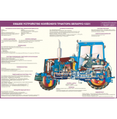 Стенд «Общее устройство колесного трактора Беларус-1221»